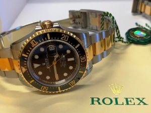 First Gold Steel Replica Luxury Rolex Sea-Dweller 126603
