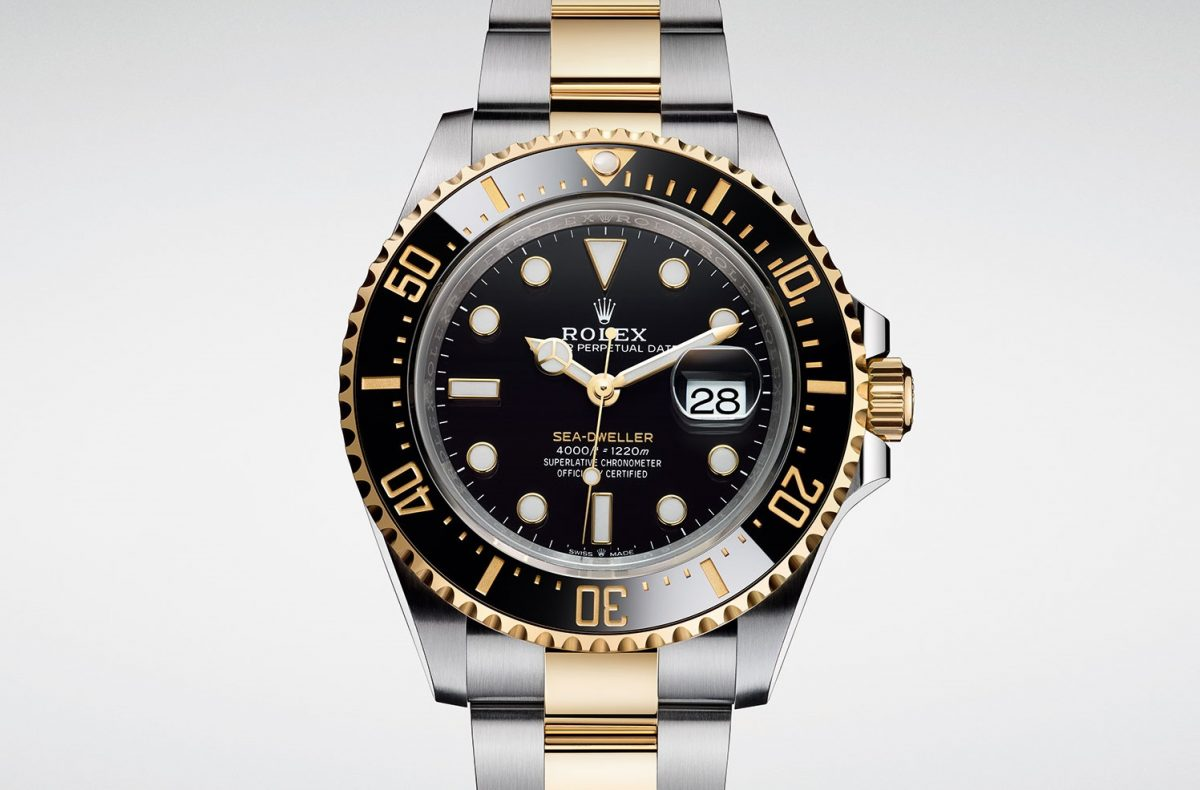 First Gold Steel Luxury Replica Rolex Sea-Dweller 126603
