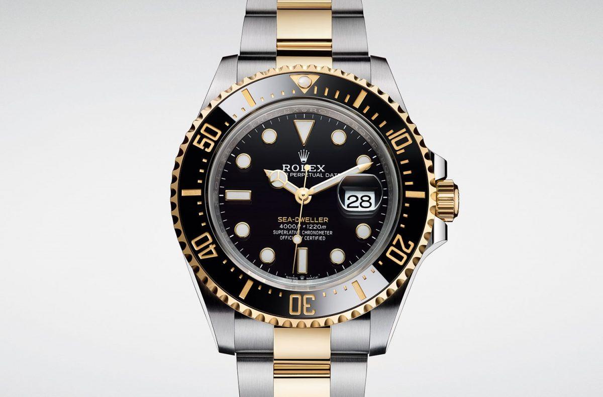 Replica First Gold Steel Luxury Rolex Sea-Dweller 126603