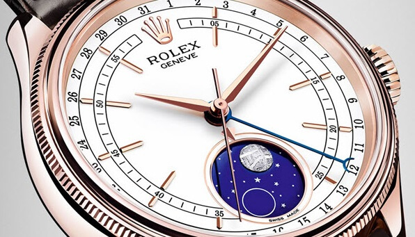complicated fake Rolex Cellini Moonphase 50535