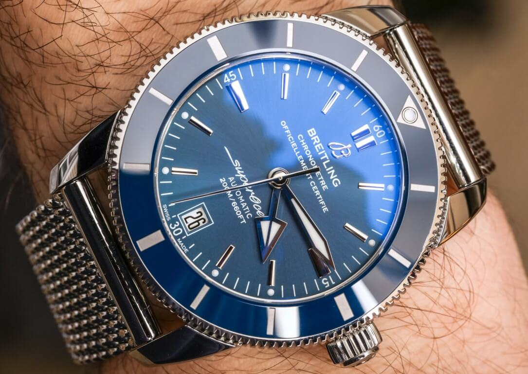Breitling Superocean Heritage Replica II B20 Automatic 42 Watch With Blue Dial